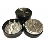 """Sharpstone Classic (1.5"""" Inch) Hard Top Herb and Spice Grinder - 2 pc, Small, Black"""