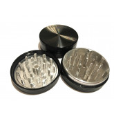 """Sharpstone Classic (2.5"""" Inch) Hard Top Herb and Spice Grinder - 2pc, Large, Black"""