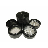 "Sharpstone Classic (1.5"" Inch) Hard Top Herb and Spice Grinder - 4 pc, Small, Black"