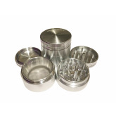 "Sharpstone Classic (1.5"" Inch) Hard Top Herb and Spice Grinder - 4pc, Small, Silver"