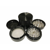 "Sharpstone Classic (2.2"" Inch) Hard Top Herb and Spice Grinder - 4pc, Medium, Black"