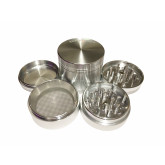 "Sharpstone Classic (2.2"" Inch) Hard Top Herb and Spice Grinder - 4pc, Medium, Silver"