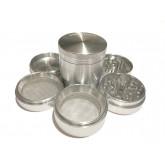 "Sharpstone Classic (2.2"" Inch) Hard Top Herb and Spice Grinder - 5pc, Medium, Silver"