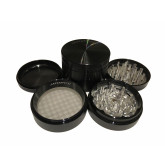 "Sharpstone Classic (2.5"" Inch) Hard Top Herb and Spice Grinder - 4pc, Large, Black"