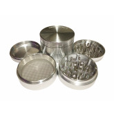 "Sharpstone Classic (2.5"" Inch) Hard Top Herb and Spice Grinder - 4pc, Large, Silver"