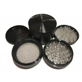 "Sharpstone Classic (3.0"" Inch) Hard Top Herb and Spice Grinder - 4pc, X-Large, Black"