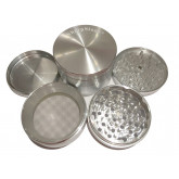 "Sharpstone Classic (3.0"" Inch) Hard Top Herb and Spice Grinder - 4pc, X-Large, Silver"