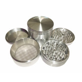 "Sharpstone Classic (3.5"" Inch) Hard Top Herb and Spice Grinder - 4pc, XX-Large, Silver"