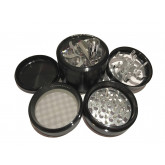 "Sharpstone Classic (2.5"" Inch) Crank Top Herb and Spice Grinder - 4pc, Large, Black"