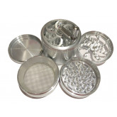 "Sharpstone Classic (3.0"" Inch) Crank Top Herb and Spice Grinder - 4pc, X-Large, Silver"