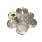 "Sharpstone Classic (2.2"" Inch) Hard Top Vibrating Herb and Spice Grinder - 4pc, Medium, Silver"