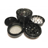"Sharpstone Version 2.0 (2.2"" Inch) Clear Top Herb and Spice Grinder - 4pc, Medium, Black"