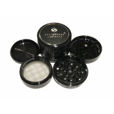 "Sharpstone Version 2.0 (2.5"" Inch) Hard Top Herb and Spice Grinder - 4pc, Large, Black"