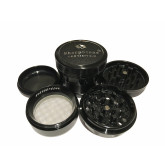 "Sharpstone Version 2.0 (2.2"" Inch) Hard Top Herb and Spice Grinder - 4pc, Medium, Black"