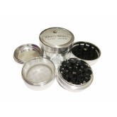 "Sharpstone Version 2.0 (2.2"" Inch) Hard Top Herb and Spice Grinder - 4pc, Medium, Silver"