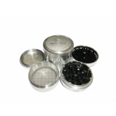"Sharpstone Version 2.0 (2.5"" Inch) Hard Top Herb and Spice Grinder - 4pc, Large, Silver"