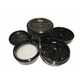 "Sharpstone Version 2.0 (3.0"" Inch) Hard Top Herb and Spice Grinder - 4pc, X-Large, Black"