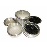 "Sharpstone Version 2.0 (3.0"" Inch) Hard Top Herb and Spice Grinder - 4pc, X-Large, Silver"